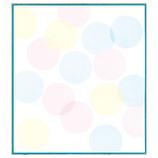 ミドリ カラー色紙 33124006 水玉ブルー