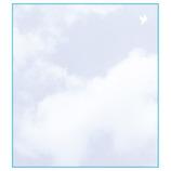 ミドリ カラー色紙 33126006 空色ノキモチ柄