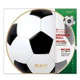 ミドリ カラー色紙 丸形 サッカーボール柄