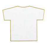 ミドリ カラー色紙 ダイカット シャツ白