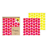ミドリ オリガミ15角 花柄 赤・黄 34391006