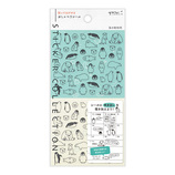 ミドリ(MIDORI) 手帳シール 82555006 おしゃべり 海の動物柄│手帳・日記帳 手帳用シール