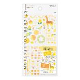 ミドリ(MIDORI) 手帳シール 82559006 カラー 黄色柄│手帳・日記帳 手帳用シール