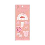 ミドリ PCシール M 83093 ベビー柄 ピンク