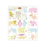 ミドリ カラー色紙用シール 83817006 動物柄