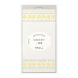 ミドリ 一筆箋 活版 89482 花ライン柄 黄