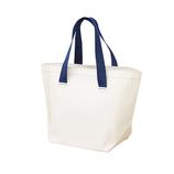 ザブ(ZAB) ザブザブ洗えるバッグ 普通サイズ ホワイト×ネイビー│トートバッグ