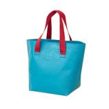 ザブ(ZAB) ザブザブ洗えるバッグ 普通サイズ ブルーグリーン×ワインレッド│トートバッグ