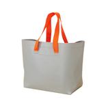 ザブ(ZAB) ザブザブ洗えるバッグ 大きいサイズ グレー×オレンジ│トートバッグ