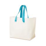 ザブ(ZAB) ザブザブ洗えるバッグ 大きいサイズ ホワイト×ターコイズブルー│トートバッグ