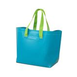 ザブ(ZAB) ザブザブ洗えるバッグ 大きいサイズ ブルーグリーン×ライトグリーン│トートバッグ