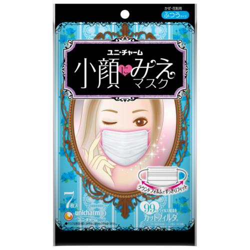 東急ハンズ ネットストアで買える「ユニチャーム 小顔にみえマスク ふつう  7枚入」の画像です。価格は378円になります。