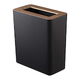 山崎実業 RIN(リン) トラッシュカン 角型 3195 ブラウン│ゴミ箱 ごみ箱