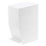 山崎実業 tower(タワー) ペダル式トイレポット 3385 ホワイト│トイレ用品 ペーパーホルダーカバー