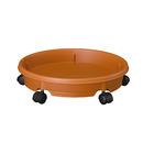 キャスタープレート34型 ブラウン│園芸用品 植木鉢・プランター