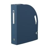 リヒトラブ noie-style ドキュメントボックス タテ F7690−11 ネイビー│ファイル ドキュメントファイル