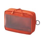 リヒトラブ SMART FIT クリヤーボックスポーチ A6 F7582−4 オレンジ│旅行用収納グッズ 収納袋・収納グッズ