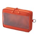 リヒトラブ SMART FIT クリヤーボックスポーチ A5 F7583−4 オレンジ