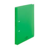 リヒトラブ アクアドロップス リングファイル ツイストリングオルクル A4 F5010‐6 黄緑│ファイル リングファイル
