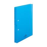 リヒトラブ アクアドロップス リングファイル ツイストリングオルクル A4 F5010‐8 青│ファイル リングファイル