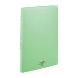 リヒトラブ アクアドロップス クリヤーブック A4 ポケット交換タイプ N−5015−6 黄緑