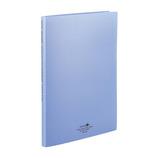 リヒトラブ アクアドロップス クリヤーブック A4 ポケット交換タイプ N−5015−8 青