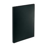 リヒトラブ AQUA DROPs 名刺帳 ポケット交換タイプ A4 タテ型 A−5043−24 黒│ファイル 名刺ファイル