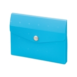 リヒトラブ(LIHIT LAB.) CUBE FIZZ カードケース 10枚 A−6002−8 ブルー│ファイル カードケース