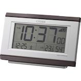 シチズン デジタル電波めざまし時計 8RZ161−006 茶色木目仕上