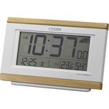 シチズン デジタル電波めざまし時計 8RZ161−007 薄茶木目仕上