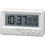 リズム アクアプルーフ 8RDA72SR03 ホワイト│時計 置き時計