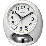 リズム タフバトラーラウド 4RA480SR03 ホワイト│時計 目覚まし時計