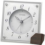 リズム アラーム付クオーツ置時計 8RG625-003│時計 目覚まし時計