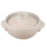 小さな和食 レンジも使える卓上土鍋 5号 桜 CR−8105