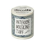 デコルファ インテリアマスキングテープ MKT50 タイルブルーW