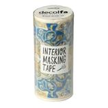 デコルファ インテリアマスキングテープ MKT100 タイル ブルーイエロー