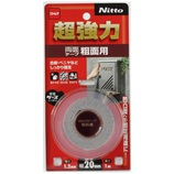 Nitto 超強力粗面用20x1 T4591│ガムテープ・粘着テープ 両面テープ
