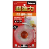 Nitto 超強力透明材料用 20mm×1.2m T4611│ガムテープ・粘着テープ 両面テープ