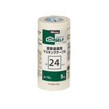 ニトムズ 建築塗装用マスキングテープS 24×18 5巻入│刷毛・塗装用具 その他 塗装用具