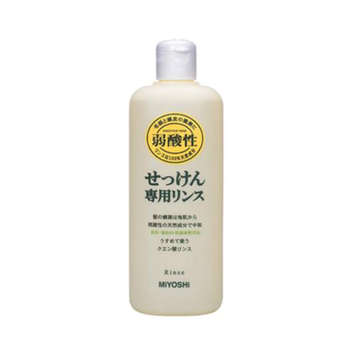 ミヨシ石鹸 無添加 せっけん専用リンス 350ml