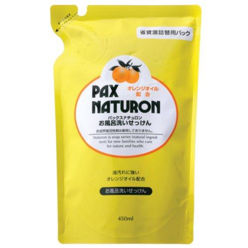 太陽油脂 パックス ナチュロン 風呂洗い 450mlつめかえ