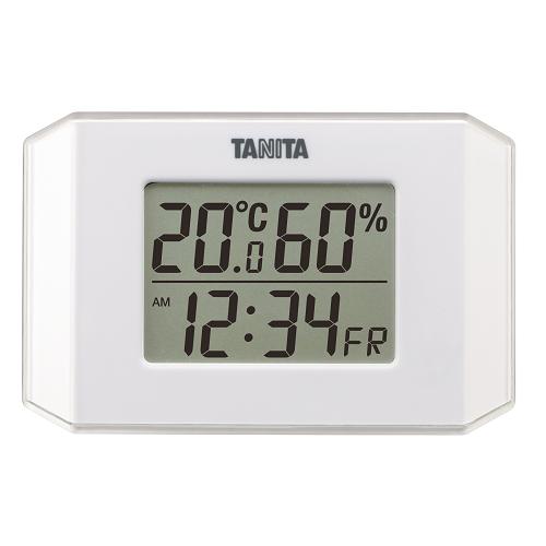 タニタ デジタル温湿度計 TT-574 ホワイト│温度計・湿度計