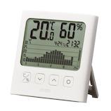 タニタ グラフ付デジタル温湿度計 TT‐581 ホワイト│温度計・湿度計
