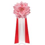 西賀 リボンバラ大 ピンク│名札・カードホルダー 腕章・胸章
