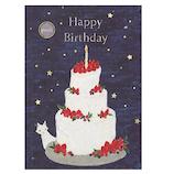 学研ステイフル 誕生日カード ミュージックカード ライトブック 絵本タイプ B13840 夜空