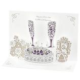 学研ステイフル 誕生日カード レーザー ポップカード B48068 シャンパン