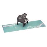 学研ステイフル 誕生日カード レーザー ポップカード B48070 ピアノ│カード・ポストカード バースデー・誕生日カード