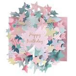 学研ステイフル 誕生日カード 星 立体カード B48072 カラフル│カード・ポストカード バースデー・誕生日カード