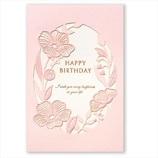 学研 BDパールフラワーカード B38-315 ピンク│カード・ポストカード バースデー・誕生日カード