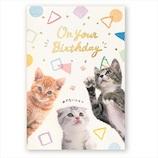 学研ステイフル 誕生日カード ライト付ミュージックカード ねこ B88171